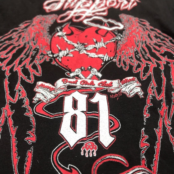 ▫️t e e s    ladies SUPPORT 81 HELLS ANGELS top▫️ NWT